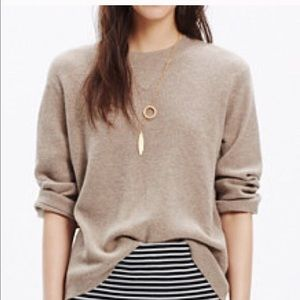 Madewell Waffle Knit 3/4 Sleeve pull over sweater